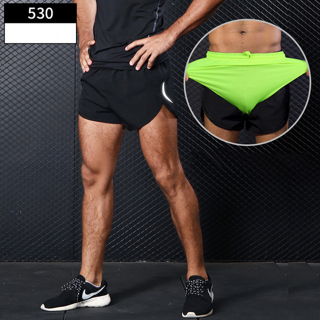 Mens Sports Running Shorts Training Exercise Jogging Short Pants 2 in 1 Marathon Shorts Man Short Sport Short Deportivo Hombre