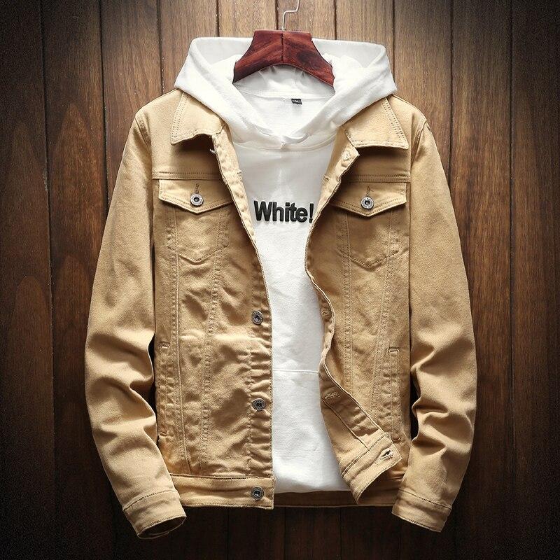 Новая весенне-осенняя белая джинсовая куртка, хлопковая ковбойская куртка для студентов, для любителей джинсов, повседневная куртка, Мужск...