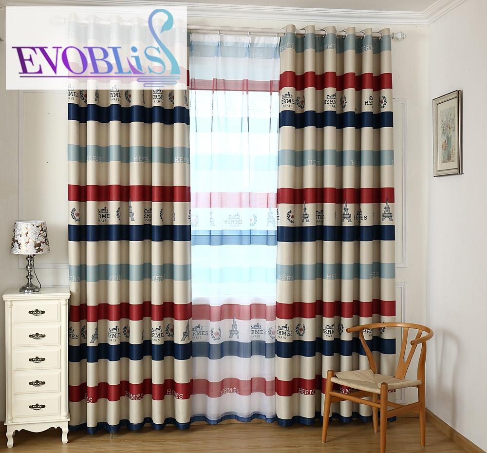 Mediterranean Style Bohemian Curtains For Children