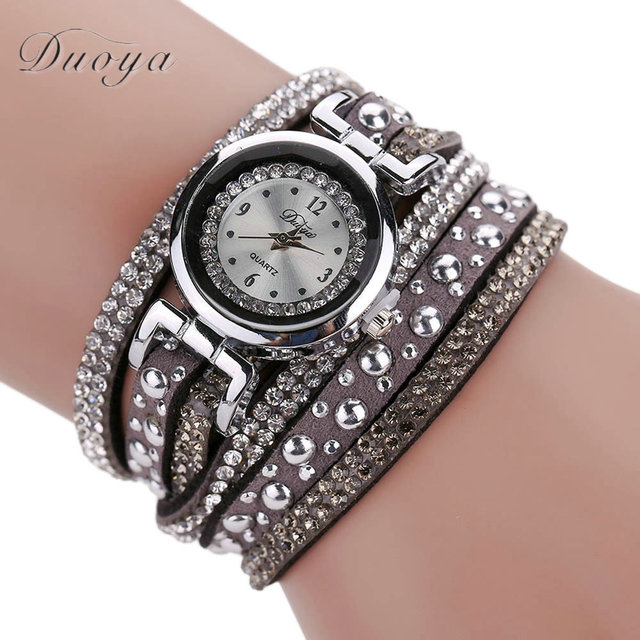 2018 Luxury Women Crystal Dress Bracelet Watch Ladies Quartz Wristwatch Women's