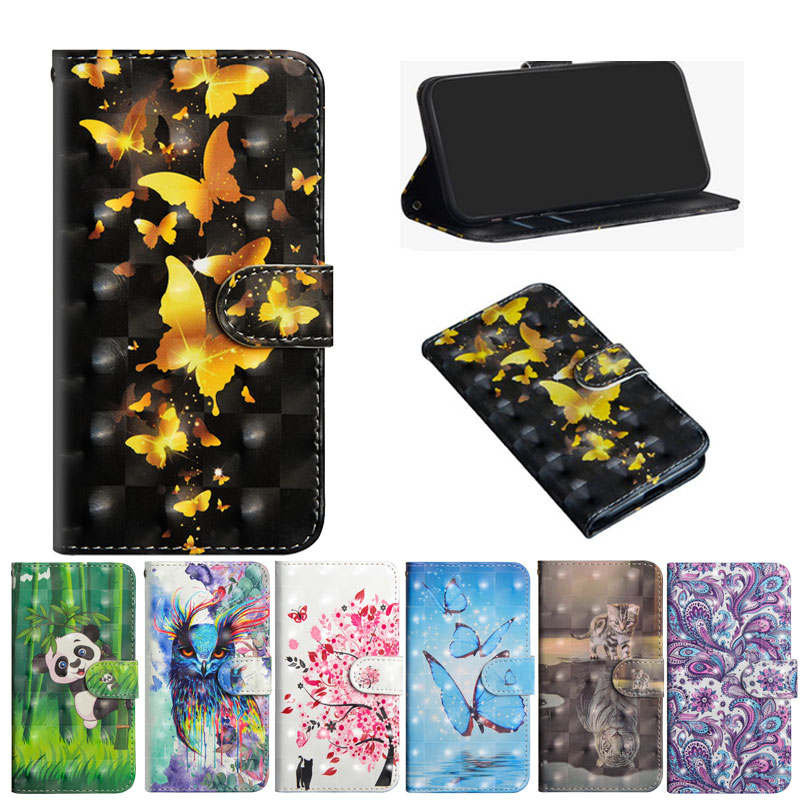 For LG Q60 Case Painted PU Leather Flip Case For LG K50 Cases Mobile Phone Bag For LG Q60 Q 60 LGQ60 Card Slots Wallet Cover