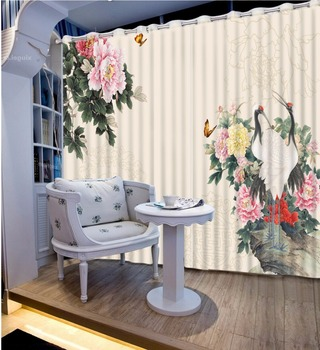 Modern Window Curtains Cortinas Blackout Printing Curtains For Living Room Bedroom The flower art Curtains 3D