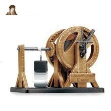 18175 год, набор моделей машин Leonardo Da Vinci, классический рычажный кран для обучения, пластиковая модель