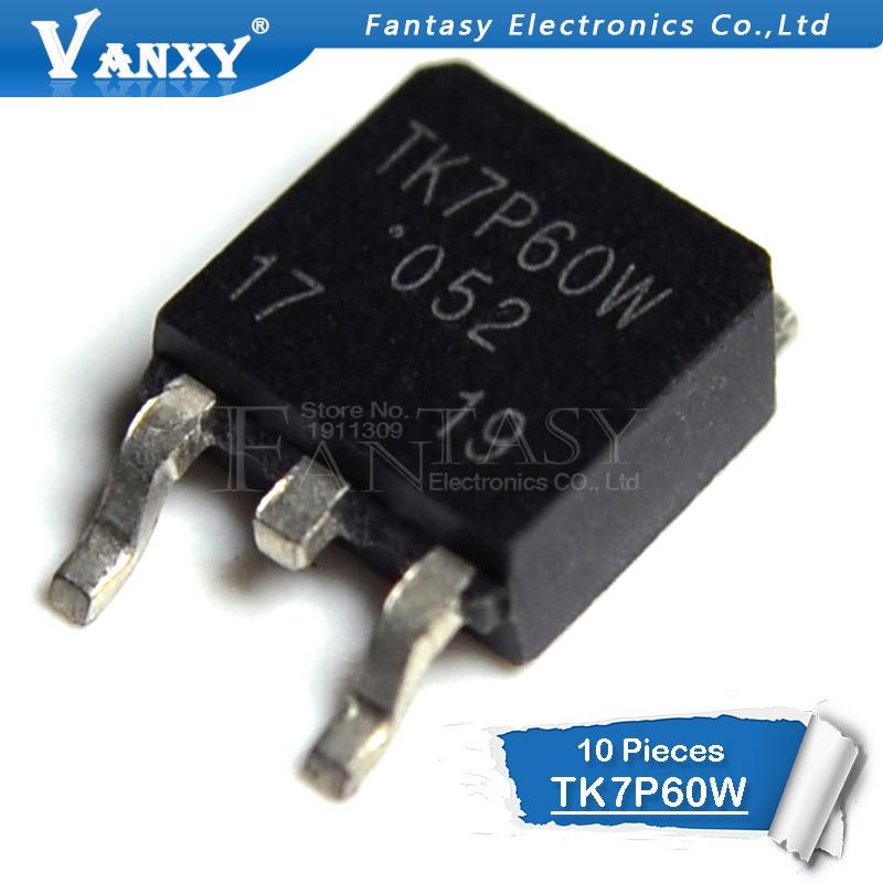 10pcs TK7P60W TO-252 TK7P60 TO252 7P60 7P60W 600V 7A TK7P60W New Original
