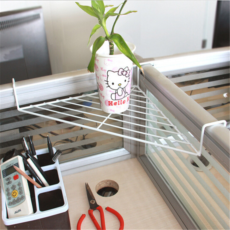 Kitchen Shelf Corner Shelves Sink Metal Rack Wrought Iron Balcony Flowerpot  Desk Corner Shelf Storage Hanging Organizer  In Storage Holders U0026 Racks  From ...