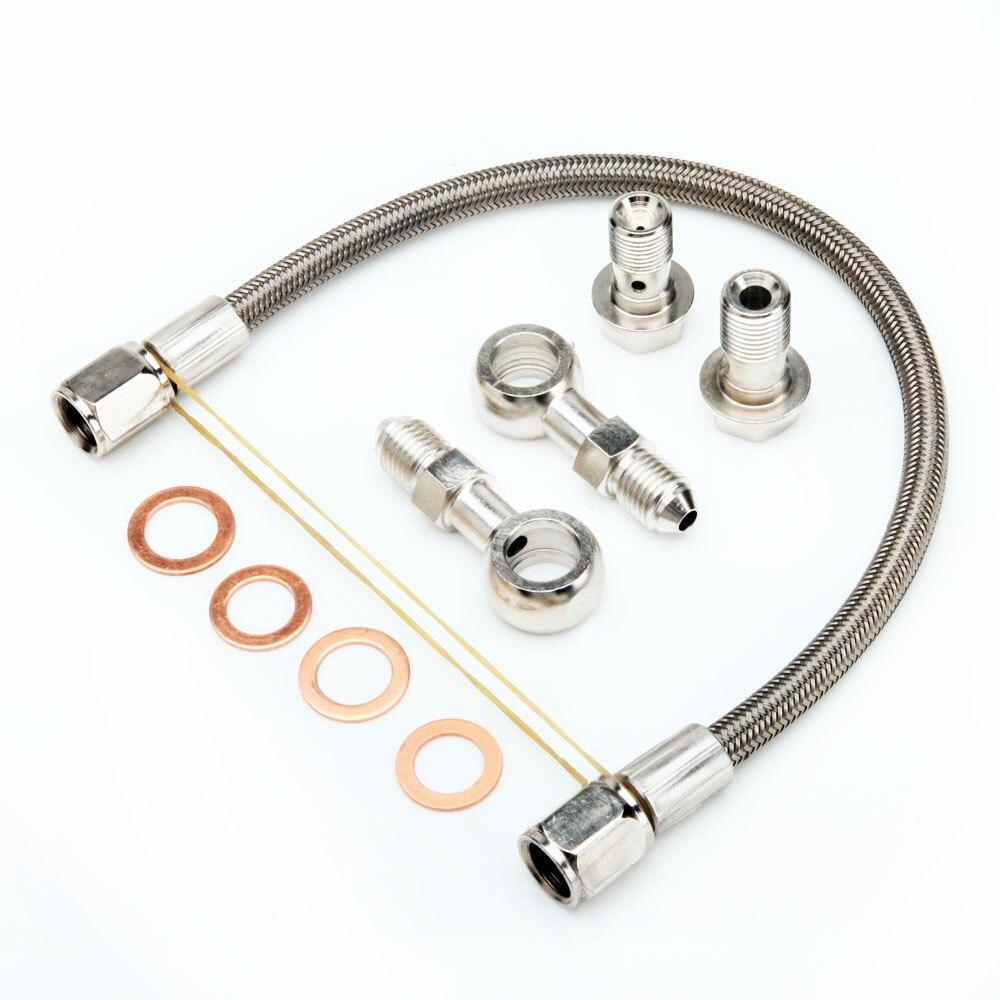 Kinugawa Kit de ligne d'alimentation d'huile Turbo pour Nissan S14 200SX SR20DET avec usine T25 Turbo