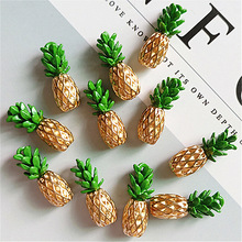 10pcs/lot New Alloy Small Pineapple Buttons Ornaments Jewelry Earrings Choker Hair DIY Accessories Handmade