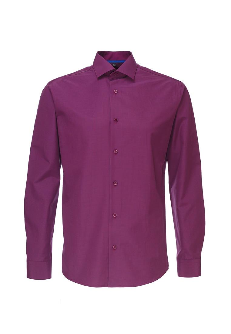 Shirt men's long sleeve GREG 724/139/102/Z/1 Lilac plus size bird and floral print v neck long sleeve t shirt