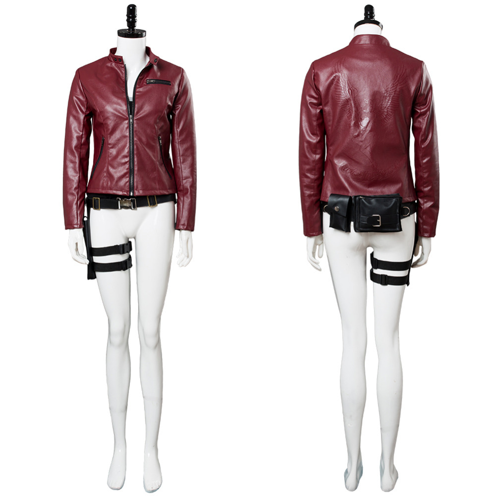 Resident Evil Remake Cosplay Claire Redfield Costume Cosplay Outfit Women red coat Suit Halloween Carnival Costume Tailor Made