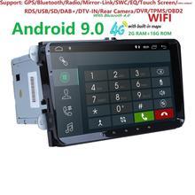 2Din 9 «Android9.0 автомобильный dvd-плеер стерео радио для V W GOLF 5 Golf 6 Polo Passat CC J etta Tiguan gps навигация 2G ram 4G