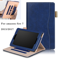For Amazon New Kindle Fire7 Case High Quality Pu Leather Smart Cover Stand Tablet For Kindle