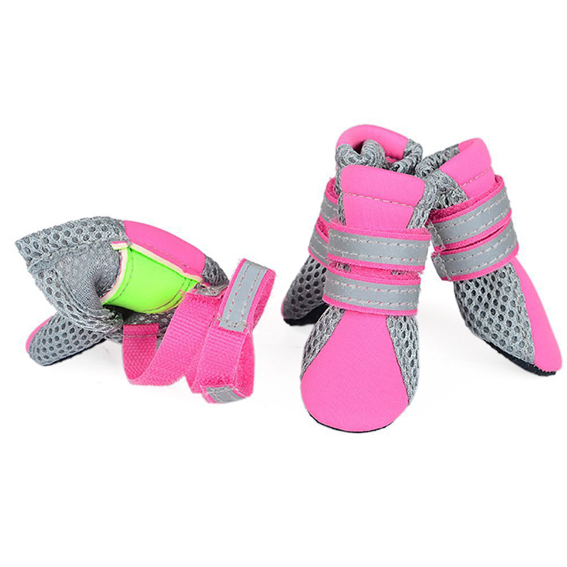 2018 New Dog Shoes For Small Big Dogs Breathable Comfort Soft Fabric Anti-slip Sole Night Reflective Net Pet Shoes 108