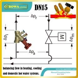 DN15 instrukcja programowanie zawory (statyczny zawór równoważący) jest równoważenie przepływu  wykorzystywanej do ogrzewania  chłodzenia i ciepłej wody użytkowej. w Części do klimatyzatorów od AGD na
