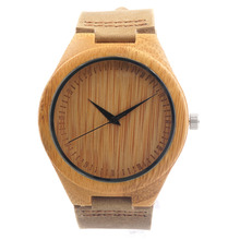BOBO BIRD F18 Japanese Miyota 2035 Movement Wristwatches Genuine Leather Bamboo Wooden Watches for Men and Women Best Gifts