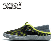 PLAYBOY Men Shoes Loafers 2016 Summer Breathable Brand Canvas Shoes Casual Outdoor Fashion Comfortable Sport Men Shoes(China)