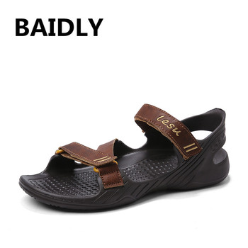 Summer Men's Sandals Casual Fashion Soft Bottom Sandals for Men Water Mens Lightly Slippers Leather Male Shoes