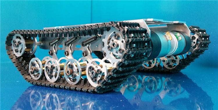 Smart tvertnes dibena kāpurķēžu šasijas slāpēšana DIY robotam