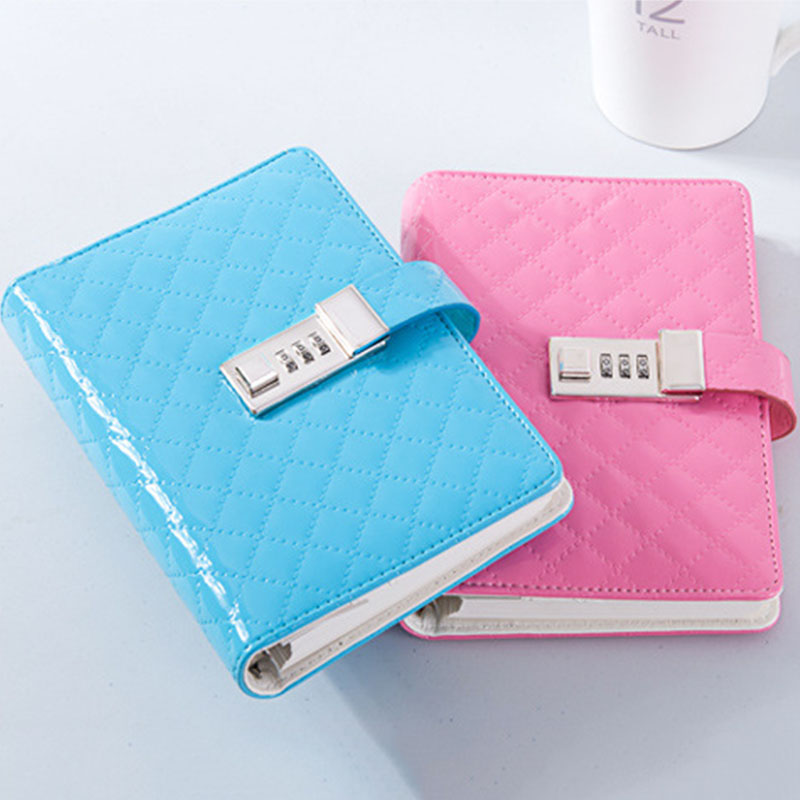 A6 Faux Leather Password Lock Notebook Dokibook Planner Orgas