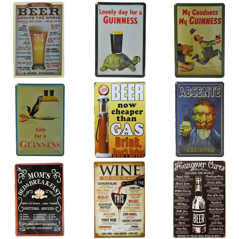 Metal Tin Sign french motto Bar Pub Home Vintage Retro Poster Cafe ART