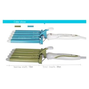 Image 3 - Hair Rooler Perm Splint Ceramic Hair Curler 5 Barrels Big Wave Hair Curling Iron Hair Waver Curlers Styling Tools