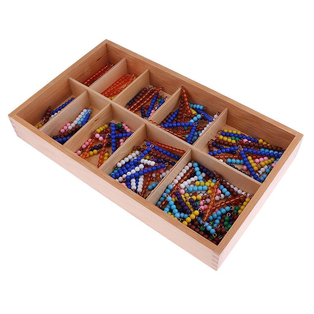 Montessori mathématiques matériel 1-10 perles chaînes nombre comptage mathématiques apprentissage jouets éducatifs pour enfants en bas âge enfants