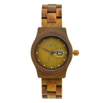 BEWELL New Fashion Business Women's Wooden Watch Clock Analog Quartz Lightweight Handmade Wrist Watches Relogio Masculino 064AL