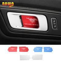 HANGUP Stainless Steel Car Interior Door Handle Bowl Decoration Cover Sticker For Ford Mustang 2015 Up Car Styling