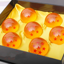 Com Original Box Dragon Ball Dragon Ball Super 7 Bola de Cristal Set 3.5 cm/4.2 cm/5.7 cm Dragonball Goku Figuras de Ação Brinquedos(China)