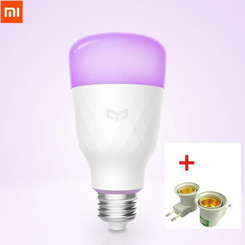 Update Version Xiaomi Yeelight Smart LED Bulb Colorful 800 Lumens 10W E27 Lemon Smart Bulb Lamp For Mi Home App White/RGB Option