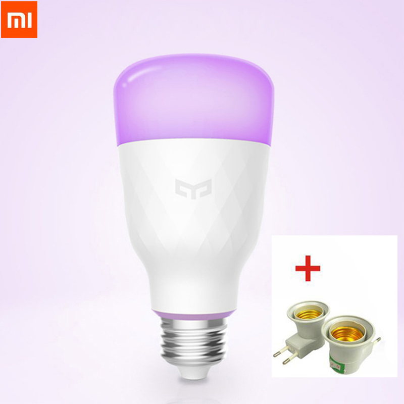 Update Version Xiaomi Yeelight Smart Led-lampe Bunte 800 Lumen 10 Watt E27 Zitrone Intelligente Birne Lampe Für Mi Hause App Weiß/RGB Option