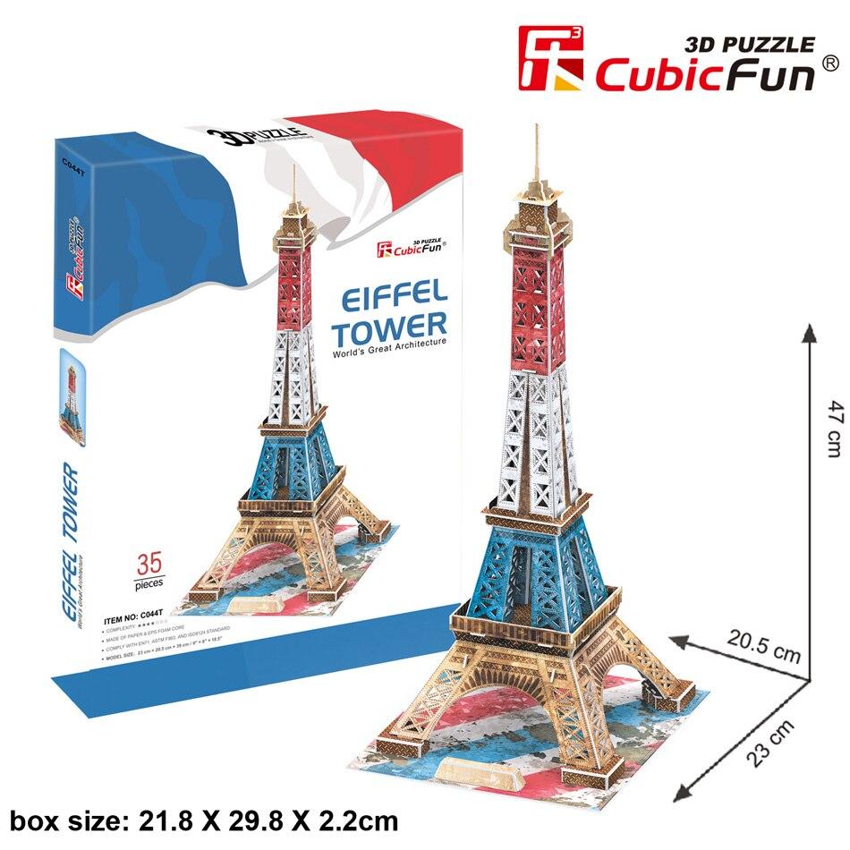Candice guo! Posta di aria libera cubicfun 3D puzzle di modello di carta speciale versione assemblare giocattolo Parigi torre Eiffel Londra big ben regalo di compleanno 1 pz
