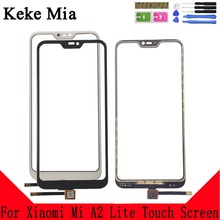 цена на Keke Mia 5.84 For Xiaomi Mi A2 Lite Touch Screen Digitizer Panel Repair Parts Touch Screen Front Glass Lens Sensor