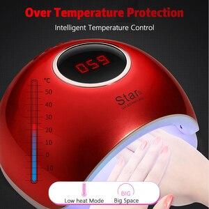 Image 5 - Rohwxy secador de unha 66w uv led, aparelho para secagem de unha de todos os tipos de gel, com parte inferior de 10s/30s lâmpada de gelo lcd para unhas/60s/temporizador, sensor automático
