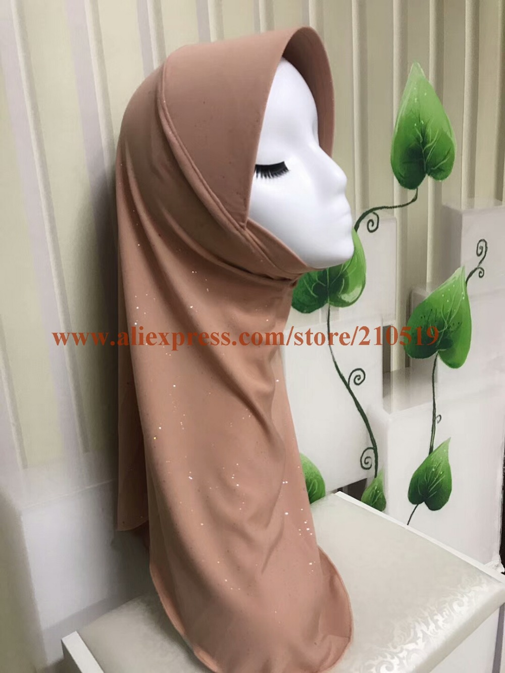 20pcs bag NEW STYLES ONE PIECE muslim hijab shiny hat cap