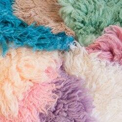 Neugeborenen Fotografie Decke Requisiten 50cm Handarbeit Australischen Wolle Banket Flokati Neugeborenen Studio Schießen Requisiten Baby Fotografia