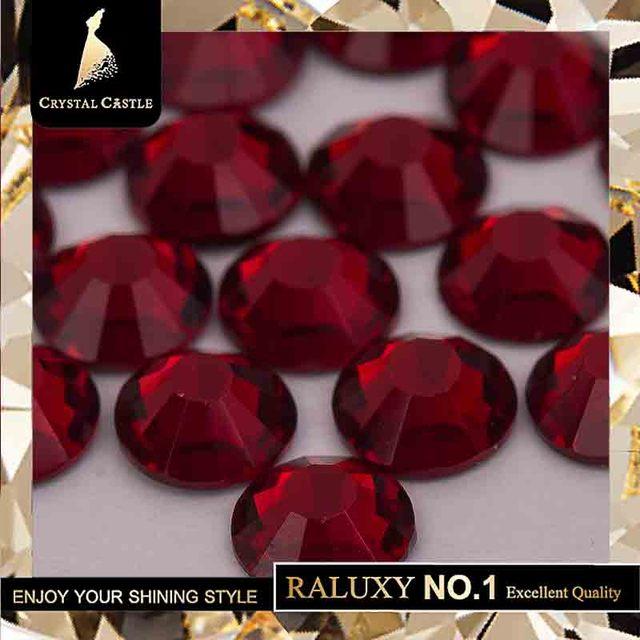 Crystal Castle 4A glass flatback rhinestone red Garnet non hot fix crystal  none glue no hotfix strass rhinestones for nail Art da8e4d146a8c