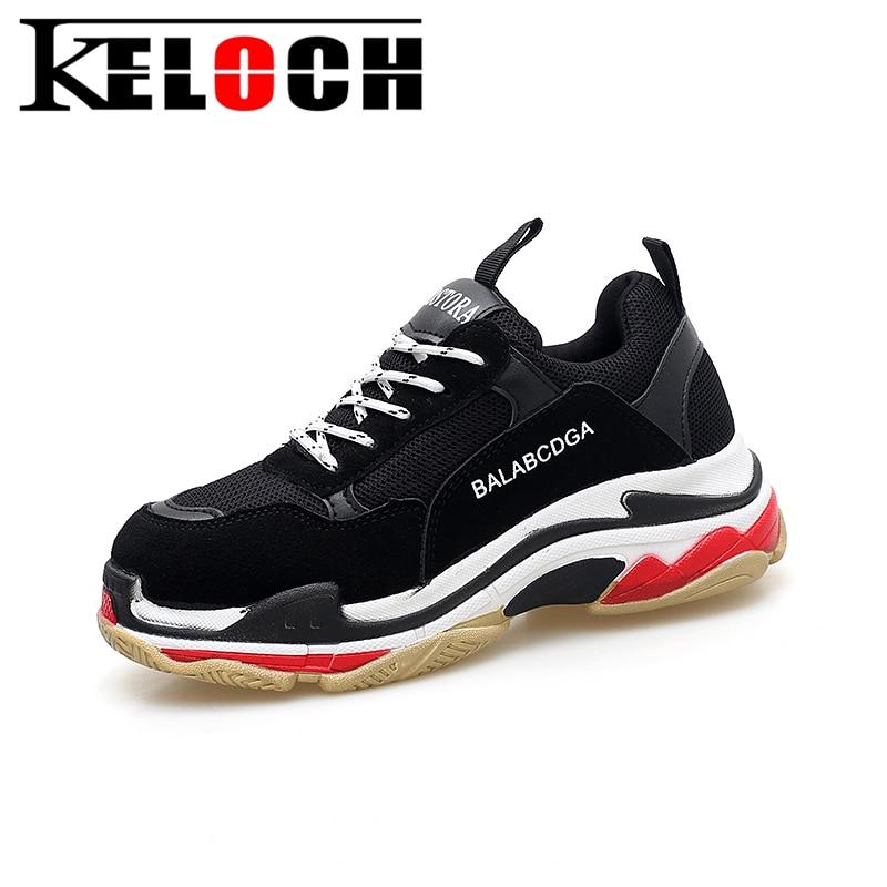 Keloch European style Women Running Shoes Height Increasing Breathable Outdoor sport Jogging Walking Sneakers For Women krasovki