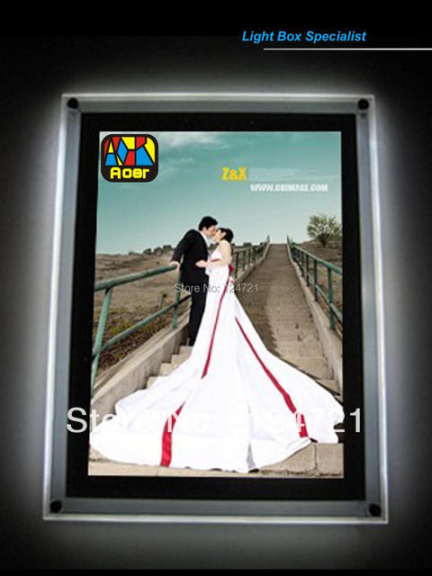 Wall Mounted 24 Quot X36 Quot Acrylic Led Photo Frame Backlit