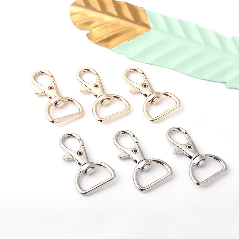 5 Pcs DIY Plating Metal Tag Silver Gold Color Quick Clips For Keychain Pet Handmade Hot Sale Birthday Gifts