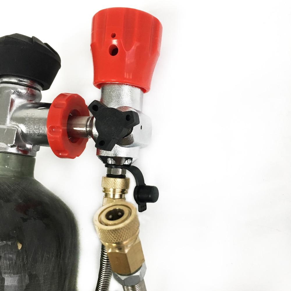 Купить с кэшбэком AC103301 3L CE Scuba Diving Tank High Pressure Cylinder Pressure Tank Cylinder Compressed Air Paintball Tank Regulator Dive Tank