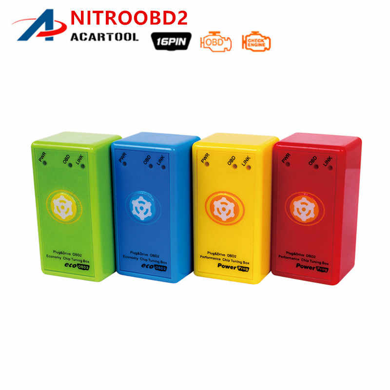 New Version Nitro OBD2 Prower Prog For Diesel More Power & Torque Than Nitroobd2 With Reset Button Car Chip Tuning