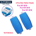 2016 Blue Foot care tool roller Heads pedicure herramientas hard roller Heads for 2pcs KIMISKY KY-816/818 Free Shipping