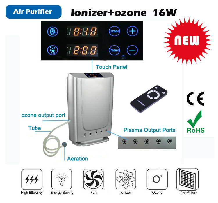 все цены на Home digital touch model ozone air purifier supply,ozone density 400mg,Applies to fruit / vegetables / tableware disinfection онлайн