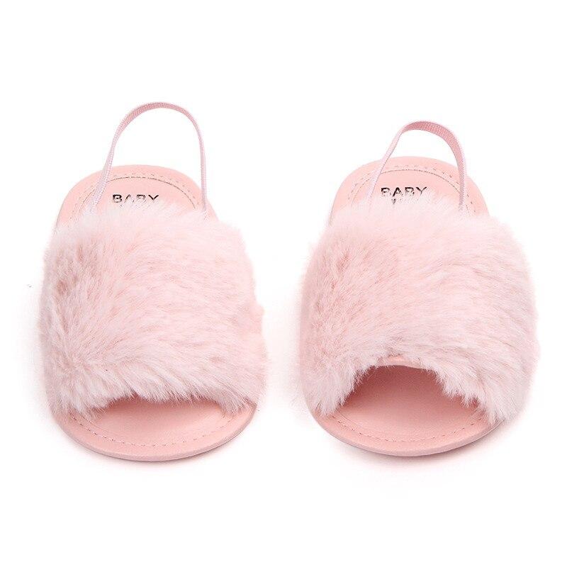 Sandały dla dziewczynek Baby Shoes Nowonarodzone Pu Pluszowe Baby - Buty dziecięce - Zdjęcie 3