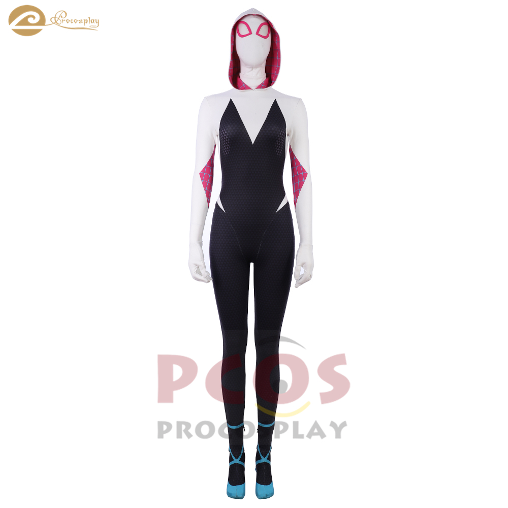 Spider-Man: Into the Spider-Verse cosplay Spider-Woman 3D printed zentai & mask costume spider Gwen Stacy cosplay costume