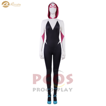 Spider-Man: Into the Spider-Verse cosplay Spider-Woman 3D printed zentai & mask costume spider Gwen Stacy cosplay costume фото