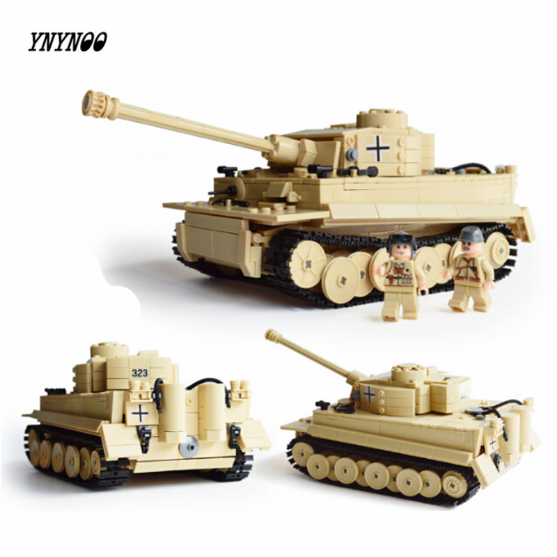 YNYNOO 995pcs Century Military Building Blocks German King Tiger Tank Model Enlighten Blocks Eduction Toys Compatible with P121