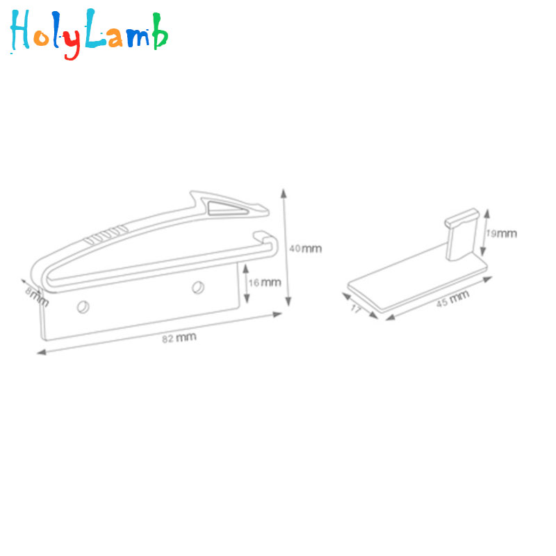 Купить с кэшбэком 4Pcs/Lot Invisible Cabinet Lock Baby Safety Drawer Lock Latches Baby Security Protection From Children Drawer Safety Lock Child