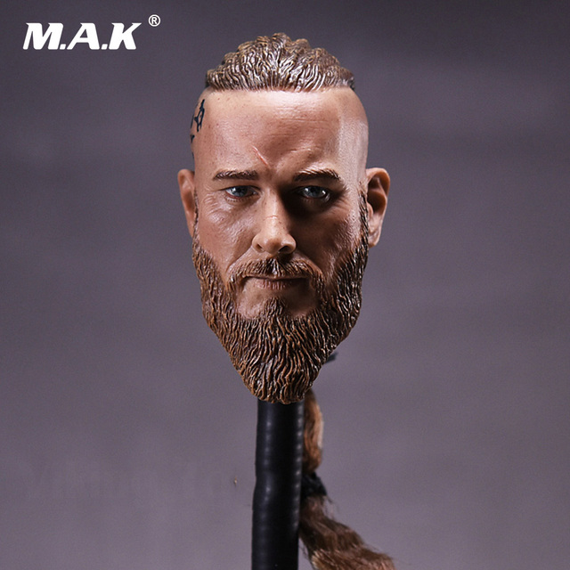 1/6 Scale Male Head Sculpt Viking Travis Braid Ancient   Solider Head Carving Model For 12 inches Body Figures