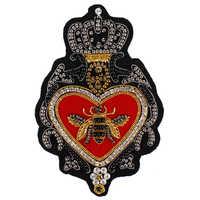 1 pièce Vintage Royal indien soie Badges couronne abeille Badges Applique de nouveaux patchs pour pantalons vêtements décorés